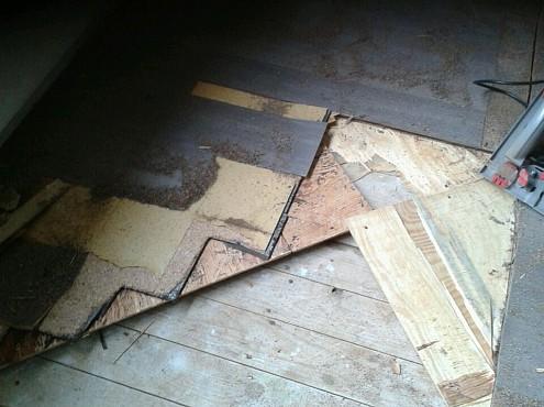 5 lagen vloer verwijderen door CVS woningontruiming