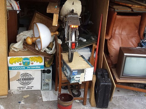 Ontruiming overvolle garage