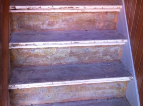 Verwijderen vloerbedekking van trap