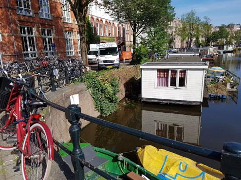 Woningontruiming op de Amsterdamse grachten