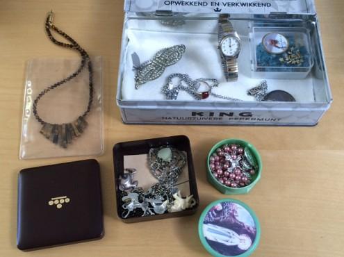 Sieraden gevonden tijdens ontruiming