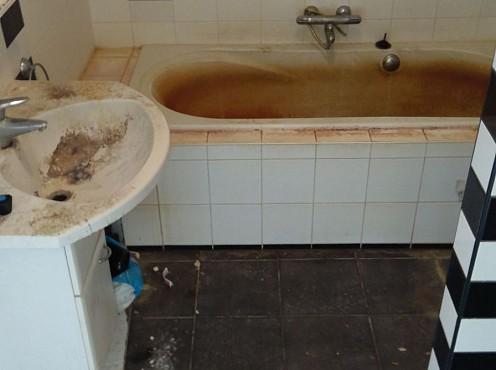 Vervuilde badkamer schoonmaken?