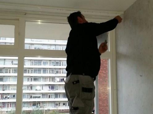 Woningontruiming- CVS verwijderen van gordijnrails