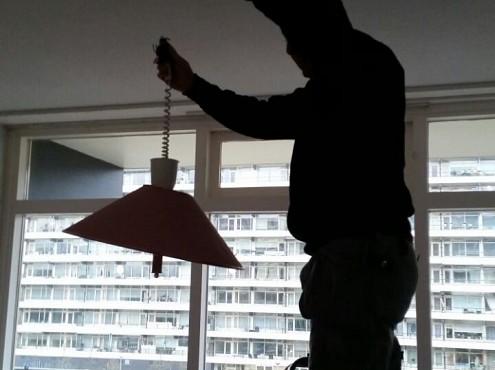 Woningontruiming- CVS verwijderen van lampen