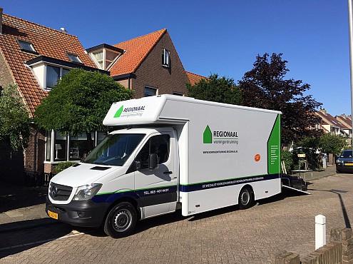 Nieuwe vrachtwagen voor CVS Woningontruiming